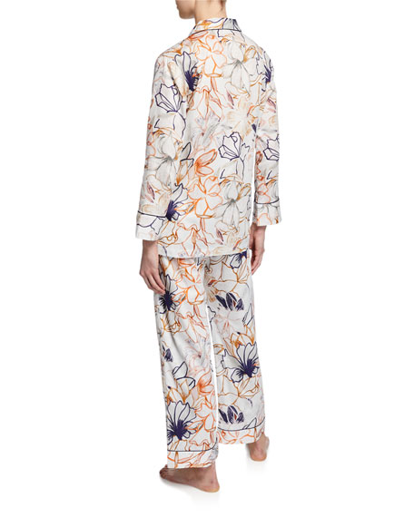 Zimmerli Floral-Print Classic Pajama Set