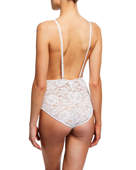 HAH / We Are HAH Comin In Haht Reversible Lace Bodysuit