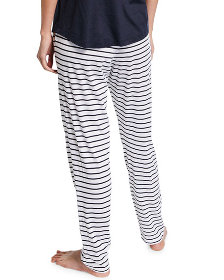 Hanro Laura Short-Sleeve Long Pajama Set