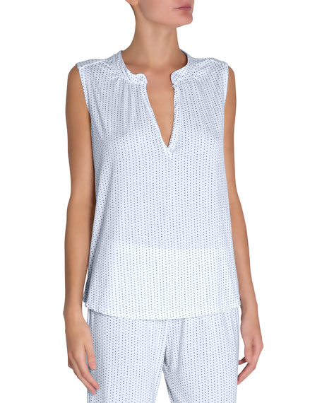 Eberjey Tropea Sleeveless Lounge Peasant Top