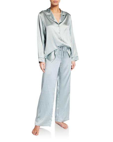 Christine Lingerie Garbo Classic Silk Pajama Set