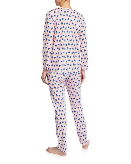 Roller Rabbit Pina Colada Two-Piece Cotton Pajama Set