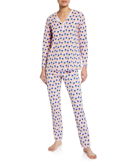 Roller Rabbit Pina Colada Two-Piece Cotton Pajama Set