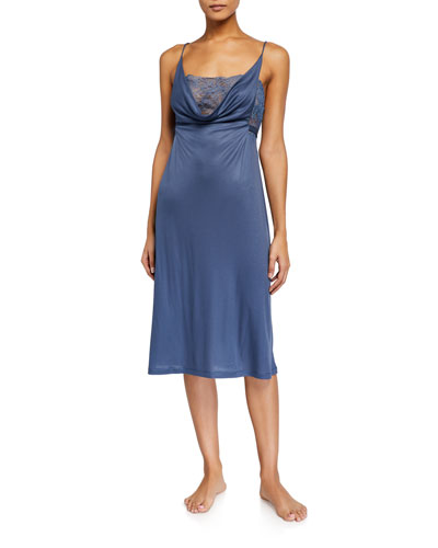 Bianca Lace-Trim Nightgown