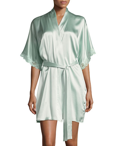 Bijoux Short Silk Robe