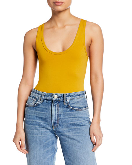 Rag & Bone The Tank Stretch-Cotton Bodysuit