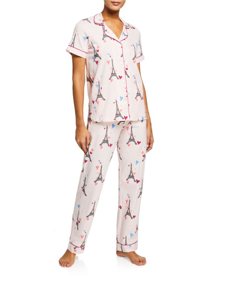 BedHead Pajamas Eiffel Tower Short-Sleeve Classic Pajama Set