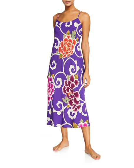 Image 1 of 2: Samarkand Floral-Print Nightgown