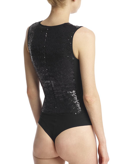 Commando Sequin Sleeveless Bodysuit