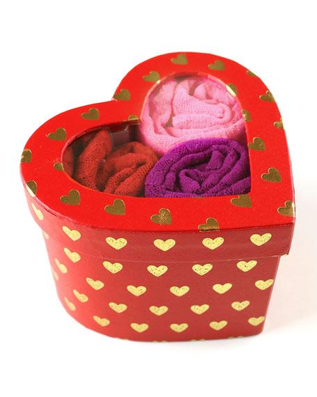 Hanky Panky Three-Pack Heart Low-Rise Thongs