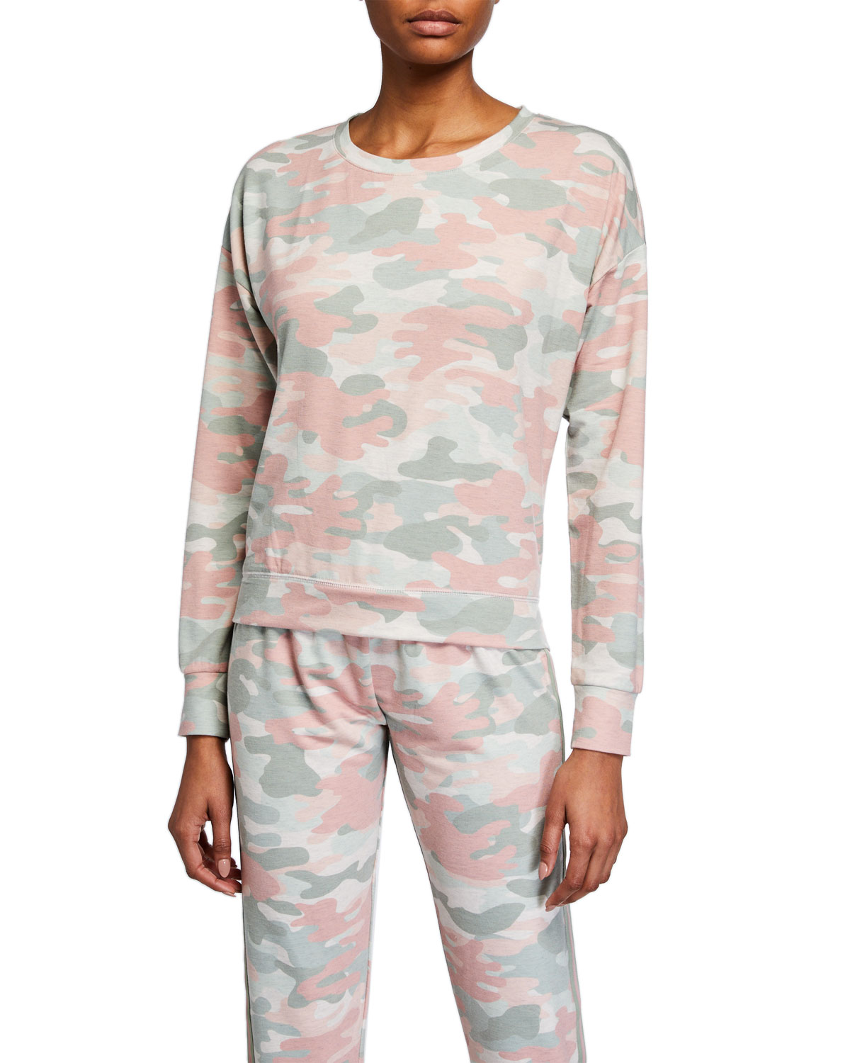 PJ Salvage Camo In Color Long-Sleeve Lounge Top