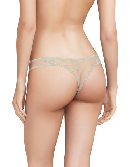 Image 2 of 2: Chantelle Champs Elysees Lace Thong