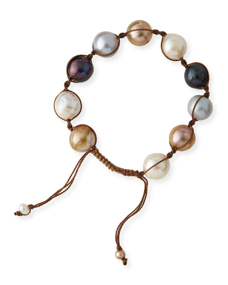 Multicolor Baroque Pearl Toggle Bracelet