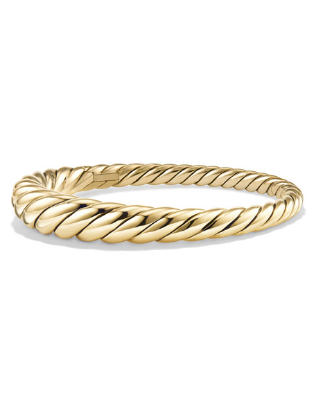 9.5mm Pure Form Cable 18K Bracelet, Size M