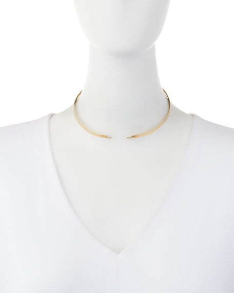 Flawless Gloss Choker Necklace with Diamonds