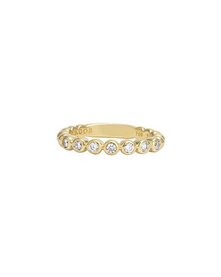 Covet 18K 3mm Diamond Stacking Ring, Size 7