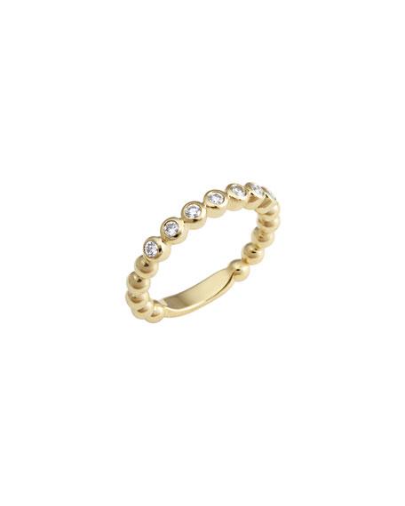 Lagos Covet 18K 3mm Diamond Stacking Ring, Size