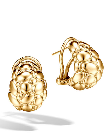 Buddha-Belly Earrings, Gold