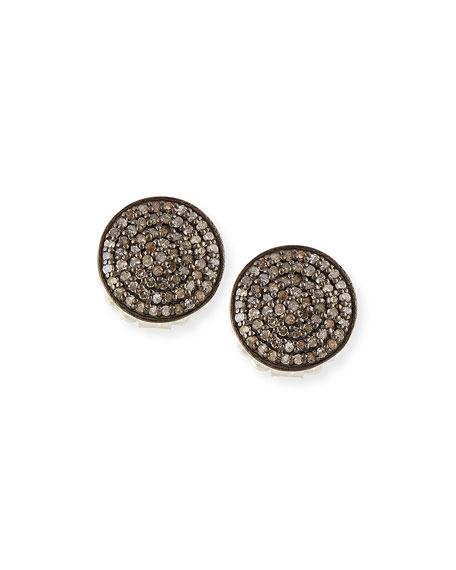 Margo Morrison Pavé Diamond Disc Stud Earrings