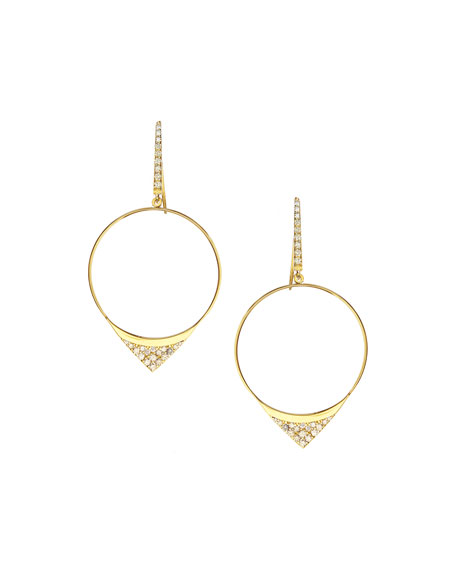 Lana Small Electric Diamond Hoop Earrings