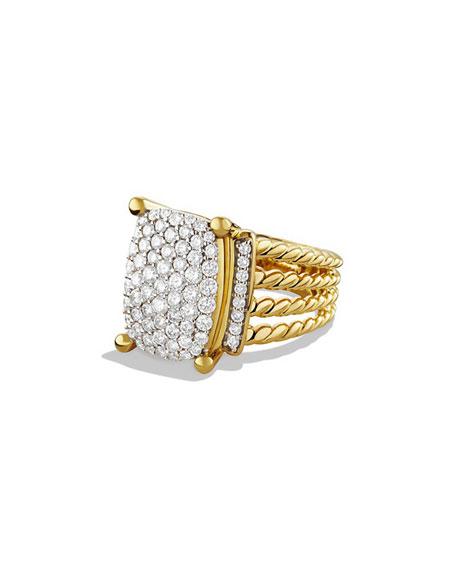 David Yurman Wheaton Pavé Diamond Ring in 18K