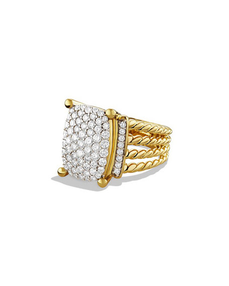 David Yurman Wheaton Pavé Diamond Ring in 18K