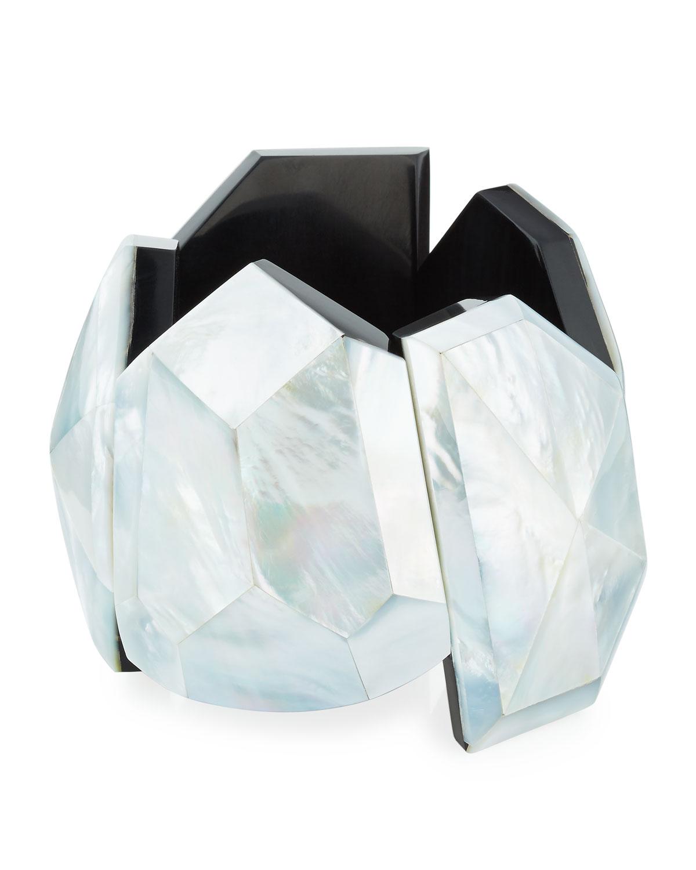 Viktoria Hayman Star Dust Faceted Cuff Bracelet k5QLsF3T