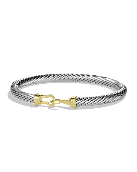 David Yurman Charm Bracelet: David Yurman Cable Buckle Bracelet With Gold
