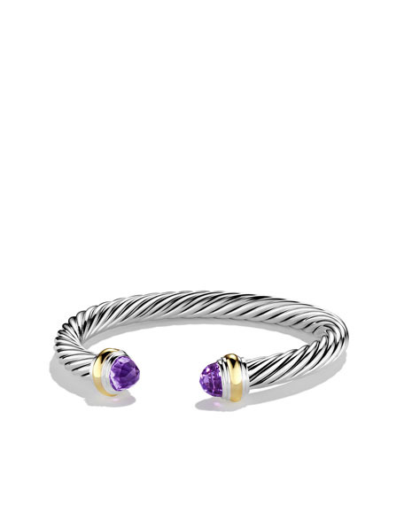 Cable Classics Bracelet with Amethyst and Gold