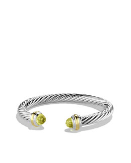 David Yurman Cable Classics Bracelet with Lemon Citrine and Gold