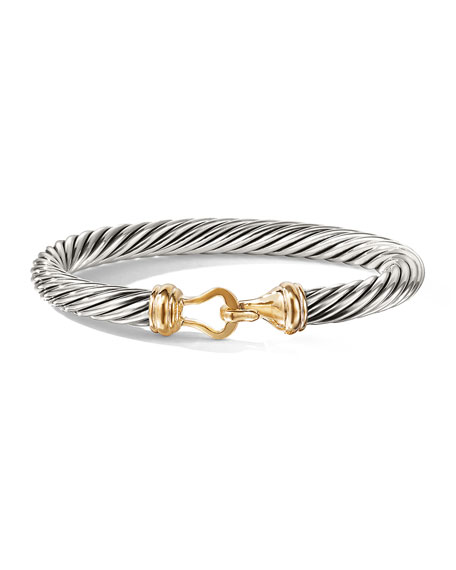 Cable Buckle Bracelet with Gold