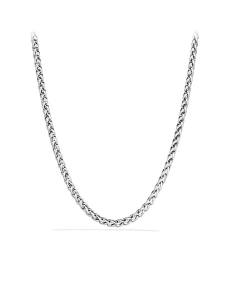 Medium Wheat Chain Necklace with Gold