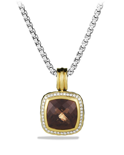 David Yurman Albion Pendant with Smoky Quartz, Diamonds, and Gold