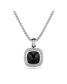 David Yurman Albion Pendant with Black Onyx and Diamonds