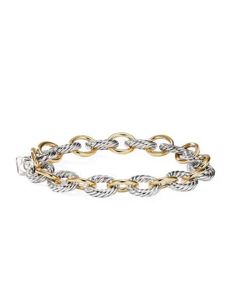 Oval Link Bracelet with Gold