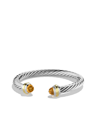 David Yurman Cable Classics Bracelet with Citrine and Gold
