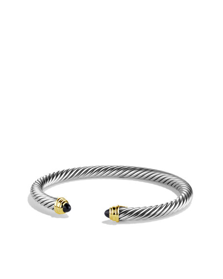 Cable Classics Bracelet with Black Onyx and Gold
