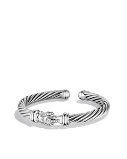 David Yurman Cable Buckle Cuff with Diamonds