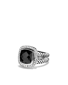 David Yurman Albion Ring with Black Onyx and Diamonds