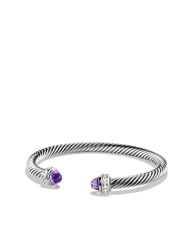 David Yurman Cable Classics Bracelet with Amethyst and Diamonds