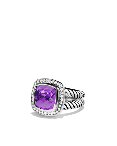 David Yurman Albion Ring with Amethyst and Diamonds