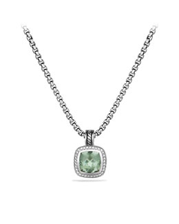 David Yurman Albion Pendant with Prasiolite and Diamonds