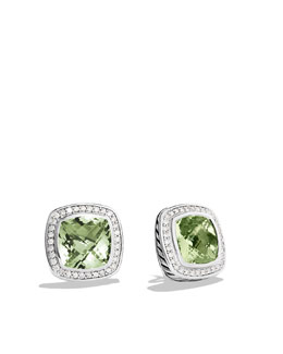 David Yurman Albion Earrings with Prasiolite and Diamonds
