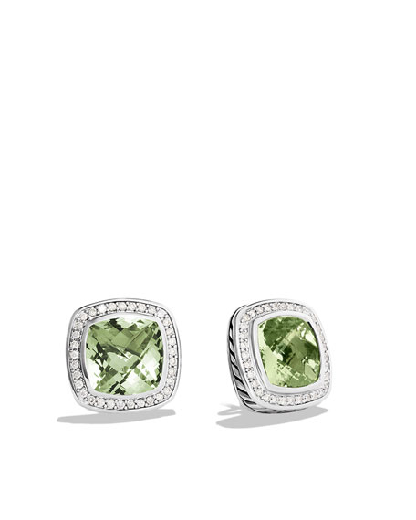 Albion Earrings with Prasiolite and Diamonds