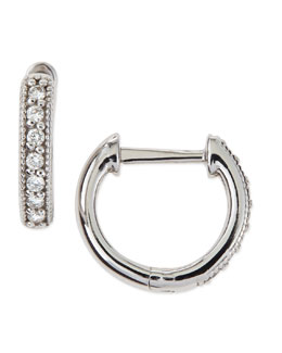 JudeFrances Jewelry Diamond Hoop Earrings