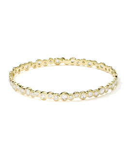 Ippolita Stardust 18k Gold Couture Diamond Bubble Bangle