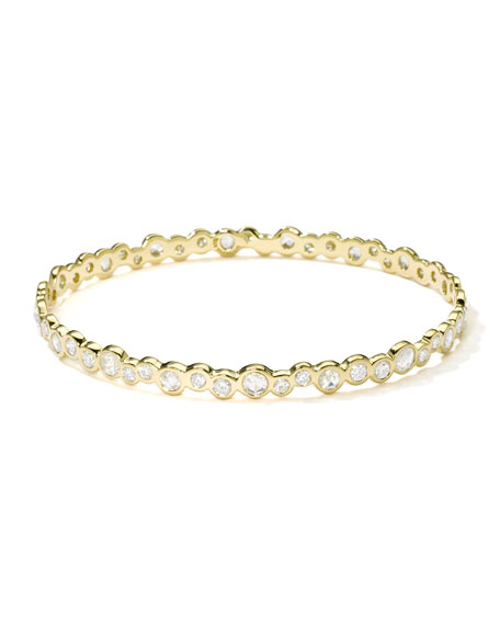 Stardust 18k Gold Couture Diamond Bubble Bangle