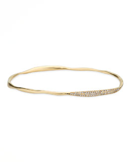 Ippolita Stardust 18k Gold Two-Station Diamond Pave Bangle