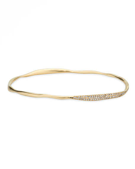 Stardust 18k Gold Two-Station Diamond Pave Bangle