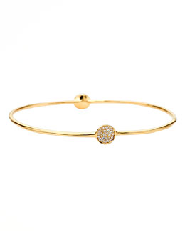 Ippolita Stardust Two-Flower Gold Diamond Bangle